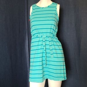 GAP KIDS Turquoise Stripe Knit Dress XXL 14-16